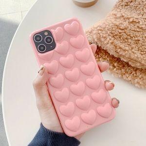 iPhone case Pink Heart 3D Luxury